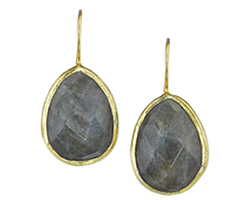 Calais Single Drop Labradorite Earrings
