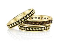 2 Jolie Stackable Rings with One Chanel Eternity Band