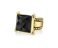 Renê Black Onyx Ring With Detail