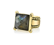 Renê Labradorite Ring with Detail